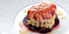 Luscious lobster recipes from Great British Chefs including poached lobster tail, lobster salad, lobster ravioli, grilled lobster and lobster macaroni Russian Salad Recipe, Russian Recipes, British Recipes, Shellfish Recipes, Seafood Recipes, Seafood Dishes, Poached Lobster, Lobster Salad, Crab Salad