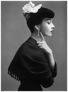 Vintage hats Dovima photographed by Richard Avedon,