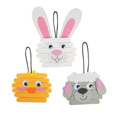 Easter Character Craft Stick Ornament Craft Kit - OrientalTrading.com