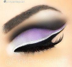 @PinkPerception  lavender smokey eye with silver liner