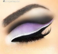 @PinkPerception  lavender smokey eye with silver liner