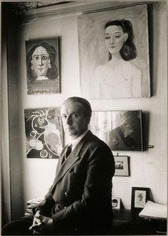 Paul Éluard by Brassaï (Halász Gyula), 1944 pauleluard Paul Eluard, Portrait par Brassaï. Man Photo, Photo Art, Brassai, Writers And Poets, Book Writer, French Photographers, Man Ray, Portraits, Paris