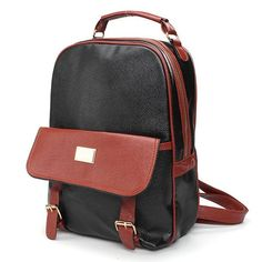 Item Type:Backpack   Color:Brown,Beige,Black   Material:PU Leather     Weight:526  g     Length: 26cm(10.24'')  Height: 34cm(13.39'') Width:11cm(4.33'')   Pattern:Patchwork   Closure:  Zipper&Cover                      Package Included:   1 * Bag
