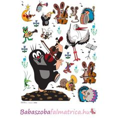 The Little Mole - Music Wall Sticker My Childhood Memories, Childhood Friends, La Petite Taupe, Music Wall, Stickers Online, Wall Stickers, Penguins, Snoopy, Wall Decor