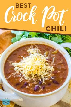 The Best Crock Pot Chili The Country Cook - This recipe for The Best Crock Pot Chili gets better as it cooks low and slow in the slow cooker. Ground beef, seasonings and tons of flavor! Pork Recipes, Slow Cooker Recipes, Crockpot Recipes, Easy Recipes, Chili Recipes, Healthy Recipes, Crockpot Chicken Dinners, Easy Baked Ziti