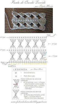 FALANDO DE CROCHET: PONTO DE CROCHE TORCIDO (Crochet Twist Stitch)