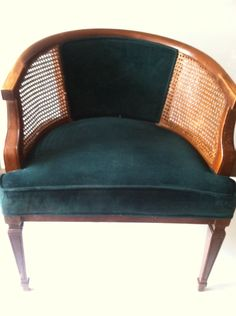 mid century CANE BACKING chair. $165.00, via Etsy.