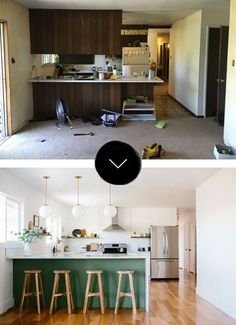 Before & After: Anna Smith of Annabode + Co. transforms a 1970s galley kitchen into a bright, modern, open space.