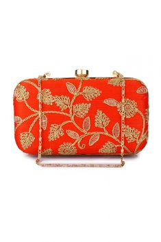 d443ac1219e Buy Style Villaz Orange Box Clutch Online at Low prices in India on  Winsant, India