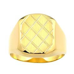 14k Yellow Gold Criss Cross Men's Ring, Size 10 Amazon Curated Collection. Save 58 Off!. $349.99. Made in United States