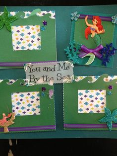 Premade Scrapbook Pages  Little Mermaid Ariel by mysecrethobby, $18.00