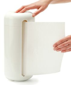 White Silicone Paper Towel Holder