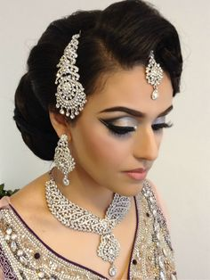 Having a good photographer coupled with the right hair and makeup artist captures your best bridal look.If you want to look picture perfec. Wedding Hair And Makeup, Bridal Makeup, Hair Jewelry, Bridal Jewelry, Jewellery, Hair And Makeup Artist, Hair Makeup, 2016 Wedding Trends, Bridal Makeover