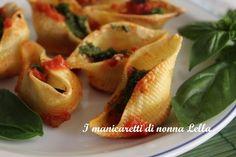 Conchiglie ripiene di melanzane I manicaretti di nonna Lella http://blog.giallozafferano.it/graziagiannuzzi/conchiglie-ripiene-melanzane/