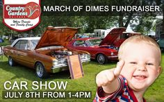 Who loves car shows? Come and support the Annual Country Gardens Car Show, March of Dimes Fundraiser will be happening again this year on Sunday, July 8th from 1-4pm. There will be tons of fun for the whole family. DJ Manny will be spinning the music and Marilyn will be running the special 50/50 draws for March of Dimes. There will be plenty of prizes and we will have an elimination draw. Everyone who enters a car will receive 2 activity tickets to be used for either Mini Golf, Paddle Boats… March Of Dimes, Woodland Park, Paddle Boat, Luxury Camping, Cool Pins, Rv Parks, Love Car, Family Camping, Car Show