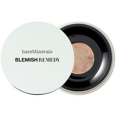 bareMinerals Blemish Remedy Foundation, Clearly Porcelain 01 0.21 oz... ($28) ❤ liked on Polyvore featuring beauty products, makeup, face makeup, foundation, bare escentuals, powder foundation, mineral foundation, hydrating foundation and moisturizing foundation