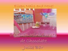 Juice Bar y Mini Fuente de Chocolate