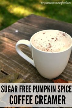 Sugar Free Pumpkin Spice Coffee Creamer Recipe - - If you're a pumpkin spice fan, you're going to love this Sugar Free Pumpkin Spice Coffee creamer - it has all of your favorite flavors of fall but without all of the sugar! Pumpkin Spice Creamer, Coffee Creamer Recipe, Pumpkin Spice Coffee, Spiced Coffee, Sugar Free Coffee Creamer, Coffee Recipes, Pumpkin Recipes, Fall Recipes, Healthy Recipes