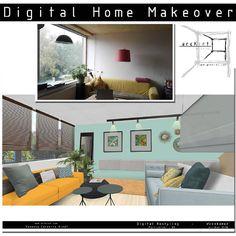 Change your #interior in a #virtual #makeover . #homemakeover . Verander jouw ruimte #virtueel