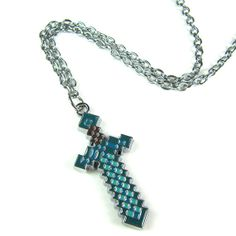 Minecraft Stainless Steel Sword Pendant Necklace by PaperCarousel, $5.25