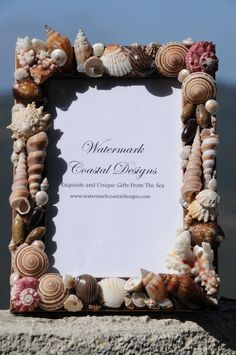 Items similar to Sandy Days Seashell Picture Frame, on Etsy Seashell Art, Seashell Crafts, Beach Crafts, Seashell Decorations, Seashell Picture Frames, Picture Frame Crafts, Shells And Sand, Sea Shells, Easy Diy Crafts