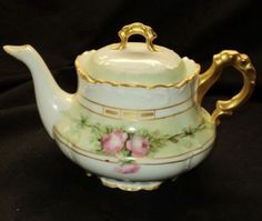 Zeh Scherer Bavaria Marseille Roses Gold Small Antique Tea Pot Teapot | eBay$225.00