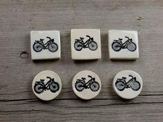 Awesome Bike Mini Magnet Set. Rare Earth by WishingStarPottery