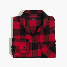 holiday gift pick: madewell flannel ex-boyfriend shirt. #giftwell