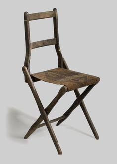 Civil War Era Folding Camp Chair, - Cowan's Auctions