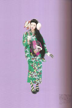 Kimono-hime issue 9. Fashion shoot page 7 by Satomi Grim, via Flickr