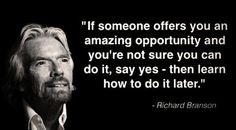 Top 30 inspirational quotes from Richard Branson. From high school dropout to multi-billionaire, Richard Branson has an incredible history and many inspirational quotes on entrepreneurialism Richard Branson Zitate, Richard Branson Quotes, Virgin Atlantic, Leadership Quotes, Success Quotes, Job Quotes, Success Mindset, Wise Quotes, People Quotes
