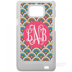 MARLEYLILLY Monogrammed Samsung Galaxy S2 i9100 Phone Case
