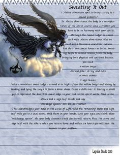 Sweating it out - magick spell page - LaPulia Book of Shadows Witchcraft Spell Books, Magick Book, Wicca Witchcraft, Magick Spells, Easy Love Spells, Traditional Witchcraft, Wiccan Magic, Healing Spells, Eclectic Witch