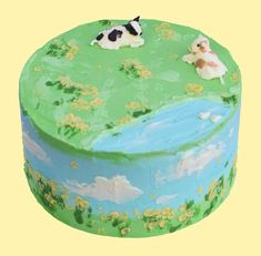 Pretty Birthday Cakes, Pretty Cakes, Cow Cakes, Cute Baking, Cute Desserts, Just Cakes, Aesthetic Food, Cute Food, Mini Cakes