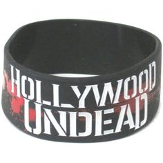 "Amazon.com: Hollywood Undead ""Watch As We All Fall Apart"" Silicone... ($9.99) ❤ liked on Polyvore featuring jewelry and silicone jewelry"