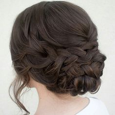 Gorgeous braided bridal updo