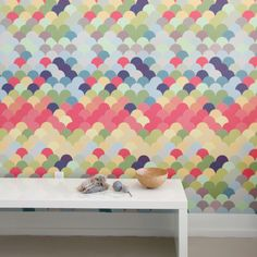 Fishwall Pattern Wall Tiles Set by Blik Surface Graphics