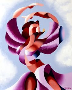 Daily Painters Abstract Gallery: Mark Webster - Plexus 2 - Abstract Figurative Gesture Oil Painting