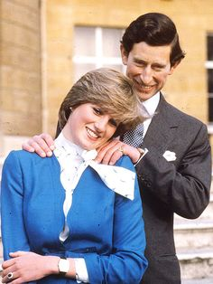 Prince Charles and Lady Diana's engagement, 1981.