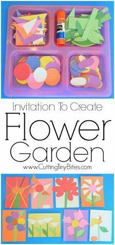 Invitation to create - flower garden