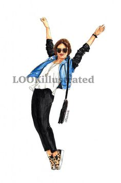 Custom fashion illustration by LOOKillustrated by LOOKillustrated