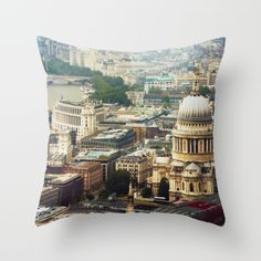 ST. PAUL'S AND #LONDON ROOFTOPS Throw #Pillow