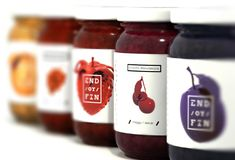 End / or / Fin on Packaging of the World - Creative Package Design Gallery Spices Packaging, Honey Packaging, Fruit Packaging, Food Packaging Design, Bottle Packaging, Packaging Design Inspiration, Brand Packaging, Jar Design, Label Design