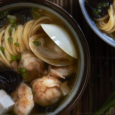 Luscious Seafood Miso Soup; recipe on the blog.