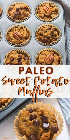 These delicious and moist Paleo Sweet Potato Muffins are a great makeahead and takealong breakfast They are made with coconut flour therefore glutenfree and grainfree Paleo Recipes Easy, Healthy Breakfast Recipes, Dairy Free Recipes, Breakfast Snacks, Breakfast Muffins, Muffin Recipes, Healthy Food, Healthy Muffins, Healthy Appetizers