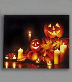 LED Lighted Jack-o-lantern Pumpkin Print Halloween Fall Wall Décor 20x16 Inches Gift Craft http://www.amazon.com/dp/B00M7NUWSS/ref=cm_sw_r_pi_dp_u-KVvb0M62BBD