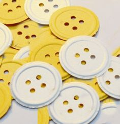 50 Button Die Cuts Paper Punches / Diecuts Scrapbooking / Cardmaking / Party Confetti by PaperFabricRock on Etsy