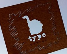 Our #businesscard re-make by b-type design (via Creattica)