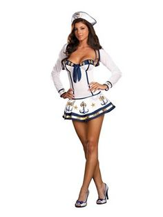 Womans Makin Waves Costume | Sexy Historic/Patriotic Halloween Costumes