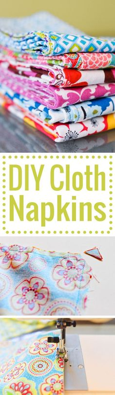 DIY cloth napkins for your home. An easy tutorial with step-by-step photos. Perfect sewing project for a beginner!
